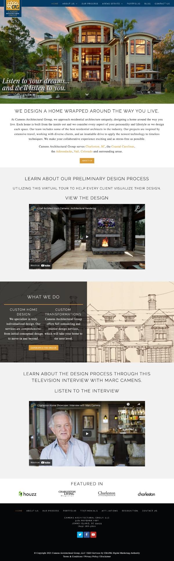 Camens website branding